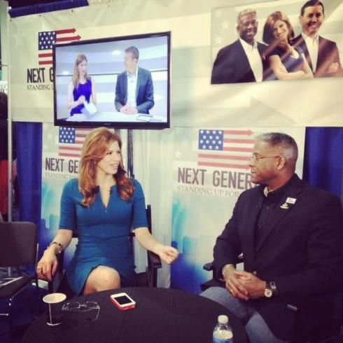 Filming for Next Generation TV with Allen West at CPAC